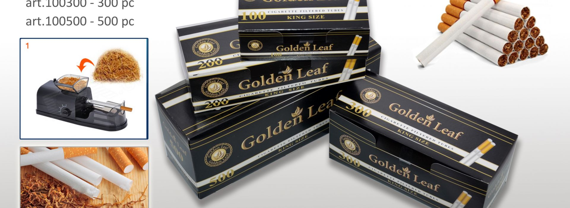 Гильзы Golden Leaf 500 штук оптом