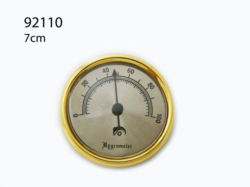 Brass Analog Smoking Tobacco Hygrometer Round Humidifier For Cigar Humidor US